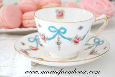 Vintage, English Fine Bone China by Crown Staffordshire, Tea Cup and Saucer Duo, Gifts for Her, Tea Party by MariasFarmhouse on Etsy