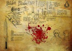 Resultado de imagen para assassin's creed hidden blade blueprint