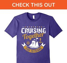 Mens Cruise Tshirt for Family Cruising Together for 10 Years Large Purple - Relatives and family shirts (*Amazon Partner-Link)