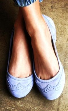 Cute  Comfy Suede Lilac Flats ♥ ...lovin these, but almost didn't want to pin. They feel like fall :P