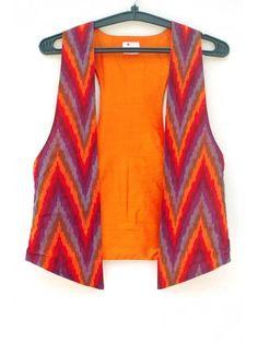 #ikat Print cotton  Waistcoat