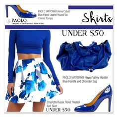 """""""Skirts Under $50 and PaoloShoes"""" by spenderellastyle ❤ liked on Polyvore featuring Charlotte Russe, under50 and skirtunder50"""