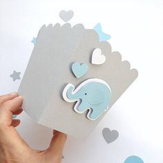 Blue Gray Elephant Favor Boxes Boy Baby Shower Decorations Elephant 1 st Birthday Decor Popcorn Paper Party Blue Gray Containers -- Looking for Baby Shower or 1st Boy Birthday decorations?! Blue and Gray Elephant favor boxes make your party adorable and perfect to decorate your dessert