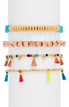 BaubleBar Beaded Bracelets (Set of 4) available at #Nordstrom