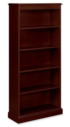 This bookcase is long and big. It has ample space for storing all your things. It has a lovely color.