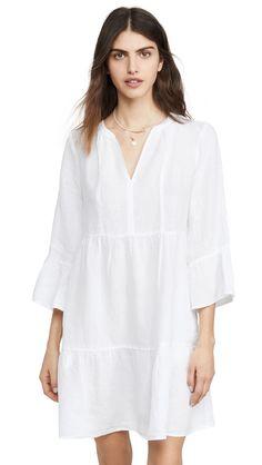 Velvet by Graham & Spencer Women's Aurora Babydoll Dress White Tunic Dress, Aurora Dress, Pullover Designs, Velvet Fashion, Signature Look, Babydoll Dress, White Fabrics, Dress Outfits, Dresses