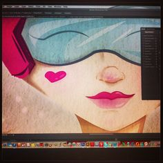 #wacom #bamboo #photoshop #illustration #sketch #draw #colors #sexy #giorgana  ilustración @giorgana82