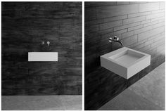 antoniolupi corian wall-mounted sink. :)