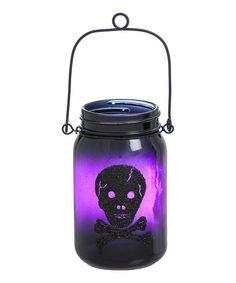 Love this Crossbones & Spiderweb Light-Up Mason Jar - Set of Two on #zulily…