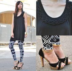 Shifted (by Gillian Uang) Black Braids, Printed Leggings, Capri Pants, Dresses, Style, Fashion, Vestidos, Swag, Moda