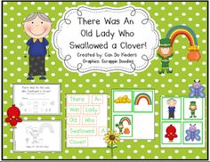 Freebie: Little Old Lady Who Swallowed A Clover Book for Retelling the story...GREAT for a sub activity!