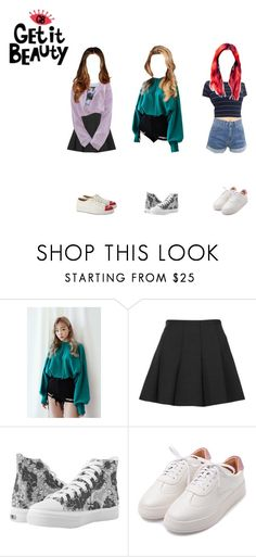 """""""[GET IT BEAUTY]w/ Minseo Mi-U and Paris"""" by ravi-maget ❤ liked on Polyvore featuring Topshop and Charlotte Olympia"""