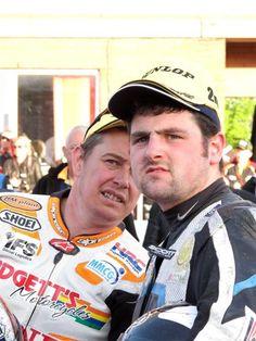 Michael Dunlop & John McGuinness. Isle of Man TT legends
