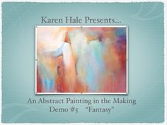 "Acrylic Abstract Painting Demonstration - Demo #7 ""Hazy Shades"" - YouTube"