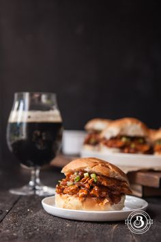 Pulled Chipotle Beer Chicken Sliders