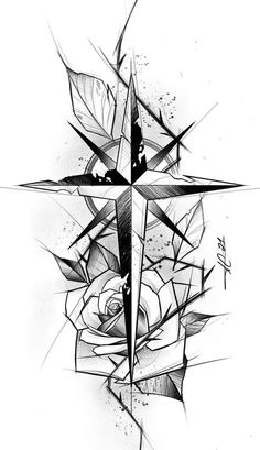 Tattoo Sketches, Compass Tattoo, Follow Me, Blackwork, Photo And Video, Artwork, Instagram, Ink, Male Tattoo