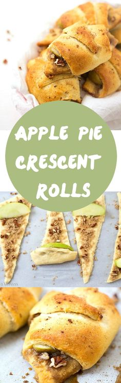 Apple Pie Crescent Roll Recipe - Layered with brown sugar, pecans, apple slices, and apple pie spice! This filling is better and quicker than any apple pie filling! Add these to your crescent roll recipes stash! Pinning!