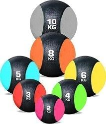 RUBBER MEDICINE BALL WEIGHTS EXERCISE FITNESS MMA BOXING TRAINING By TNP Accessories (2 Kg – Pink)
