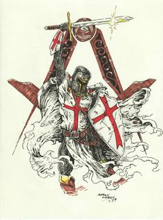 Discover Knight Templar Warrior T T-Shirt, a custom product made just for you by Teespring. - Beautiful and quality Knight Templar Warrior T. Freemason Tattoo, Masonic Tattoos, Masonic Art, Masonic Symbols, Masonic Order, Medieval Tattoo, Templar Knight Tattoo, Crusader Knight, Eastern Star