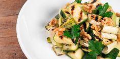 Grilled Zucchini & Leeks with Walnuts | Recipes