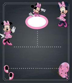Minnie Mouse Party Decorations, Mouse Parties, Mickey Mouse Wallpaper, Cute Frames, Minnie Mouse Pink, Birthday Chalkboard, Mickey Mouse Birthday, Minne, Baby Design