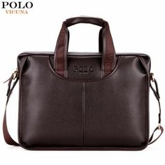06d6f5636bc9 VICUNA POLO Classic Design Large Size Leather Briefcases Men Casual Business  Man Bag Office Briefcase Bags