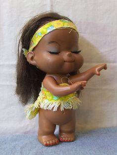 Hawaiian Hula Girl  Hard Plastic Moveable Arms by TheOddOwl, $50.00