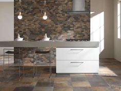 For centuries Natural Slate Tiles have been valued for the warmth and beauty they bring to your home. This natural warmth is recreated in these fantastic tiles Best Bathroom Tiles, Kitchen Tiles, Kitchen Flooring, Flagstone Tile, Slate Flooring, Slate Tiles, Flooring Ideas, Exterior Tiles, Natural Stone Flooring
