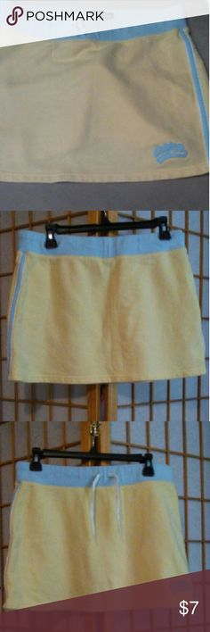 AEROPOSTALE. Skirt Yellow and blue skirt, sweat shirt matrial Aeropostale Skirts Mini