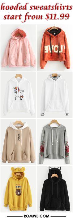 hooded sweatshirts from $11.99