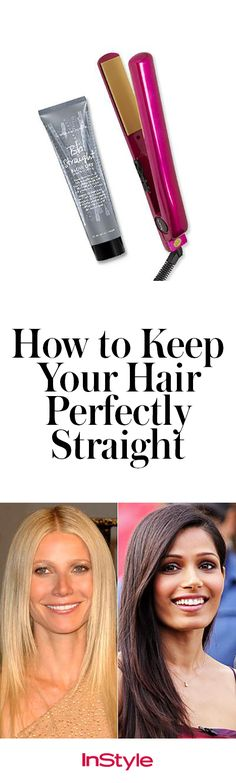 Shiny, stick-straight hair always looks so polished. The trick is keeping your hair looking shiny and healthy in the process. Here are our tips and some inspiration.
