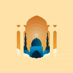 Ramadan background with golden crescent moon and star Islamic Art Canvas, Canvas Art, Poster Ramadhan, Mosque Vector, Islamic Events, Ramadan Lantern, Islamic Posters, Islamic Cartoon, Anime Muslim