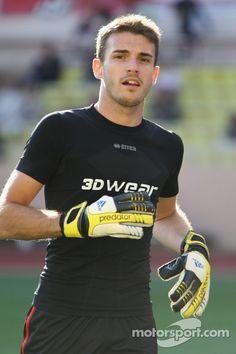 #Jules_Bianchi17 As a goalkeeper ☺