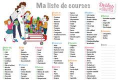 La liste de courses à imprimer pour faciliter la vie des mamans : http://drolesdemums.com/mes-outils-pratiques/ma-liste-de-courses/