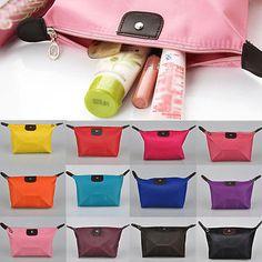 Women Waterproof Zipper Cosmetic Makeup Bag Handbag Purse Pouch Pen Pencil Case | eBay