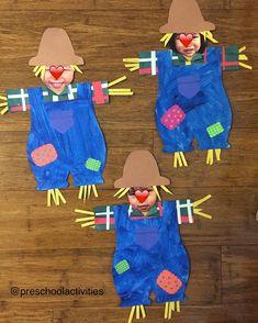 Photo Scarecrow Craft (from Preschool Activities via Instagram: https://www.instagram.com/p/BL1p69IgDTm/?taken-by=preschoolactivities)