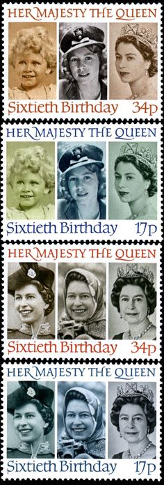 Royal Mail 1986 - 60th Birthday of Queen Elizabeth II  http://rmspecialstamps.com/##stamps