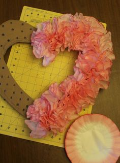 Because who doesn't want to know how to make cheap wreaths out of cardboard and coffee filters!