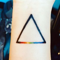 A permanent reminder of who you are and what you stand for, a Pride tattoo is one of the most inspiring tattoos you could get. In honor of Pride Month, we've Gay Pride Tattoos, Sexy Tattoos, Sleeve Tattoos, Tatoos, Goth Tattoo, Tattoo You, Triangle Tattoos, Future Tattoos, Tattoo Inspiration