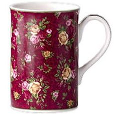 Old Country Roses Ruby Lace', available 2002-2007, Bone China, Royal Albert Ltd.