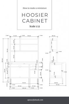 miniature_hoosier_plans class= Hoosier Cabinet, Mini Kitchen, Miniatures, How To Plan, Minis, Small Kitchenette