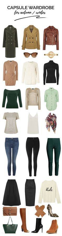 Capsule wardrobe essentials: autumn/winter capsule wardrobe (I'd prefer different shoes, though)