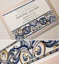 Art deco invite. Kristy Rice Designs.