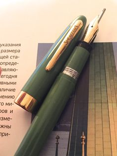 Rare Sage Green Sheaffer Snorkel Admiral Near by InspiringPens Snorkeling, Fountain Pen, Pens, Sage, Unique Jewelry, Green, Beautiful, Vintage, Fountain Pens