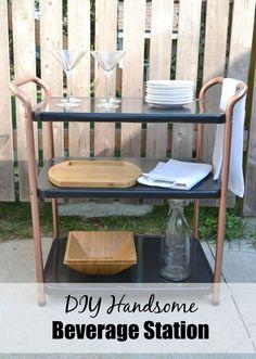 DIY Handsome Beverage Station mycreativedays.com