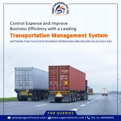Sagar Informatics has developed customize and advanced and easy-to-use Cloud-based Transport Management Software that helps you to manage your logistics & transportation operations. Your business can also handle the unique nationwide demands of the delivery management process with the help of this software. Online Transportation Management Solution manages key processes of transportation management including Planning and decision making, Transportation Execution, Transport follow-up and… Driver App, Business Operations, Tracking App, Cloud Based, Supply Chain, Decision Making, The Help, Communication, Transportation