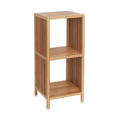 3-Tier Square Bamboo Storage Rack in Natural