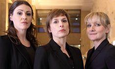 Suranne Jones, Amelia Bullimore, and Lesley Sharpe as DC Rachel Bailey, DCI Gill Murray, and DC Janet Scott in 'Scott & Bailey'