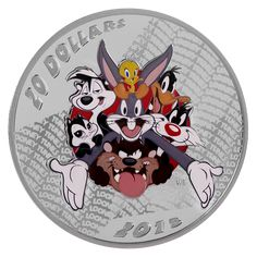 Looney Tunes(TM): Merrie Melodies - 1 oz. Fine Silver Coloured Coin (2015)