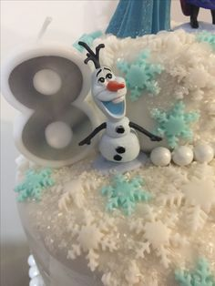 Frozen cake detail